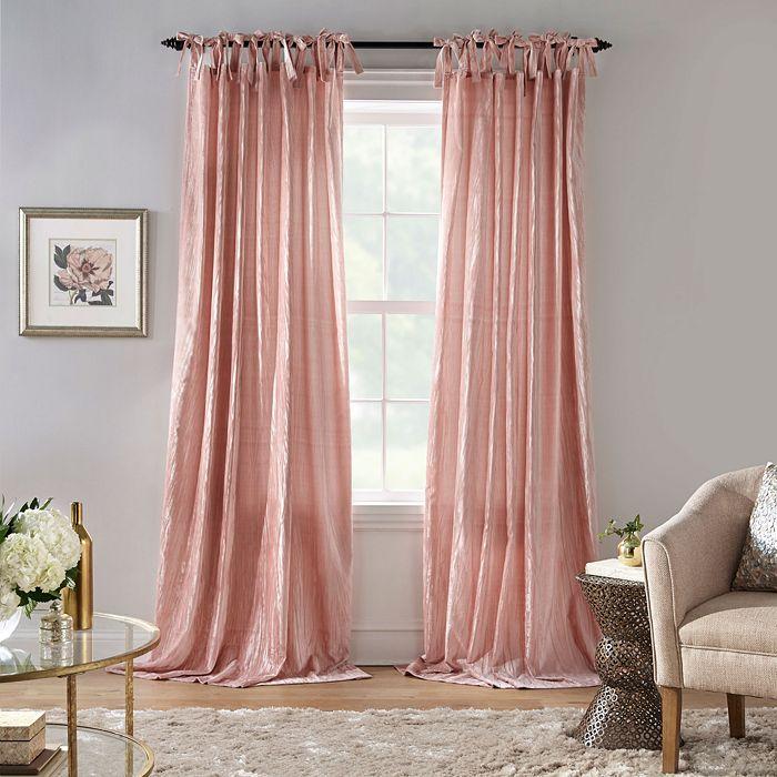 Elrene Home Fashions - Korena Tie-Top Crushed Velvet Window Curtains