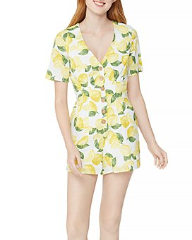 BCBGeneration - Button Front Lemonade Romper