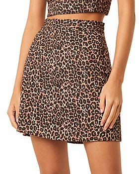FRENCH CONNECTION - Leopard Whisper A Line Skirt