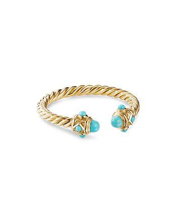David Yurman - Renaissance Ring in 18K Yellow Gold with Turquoise