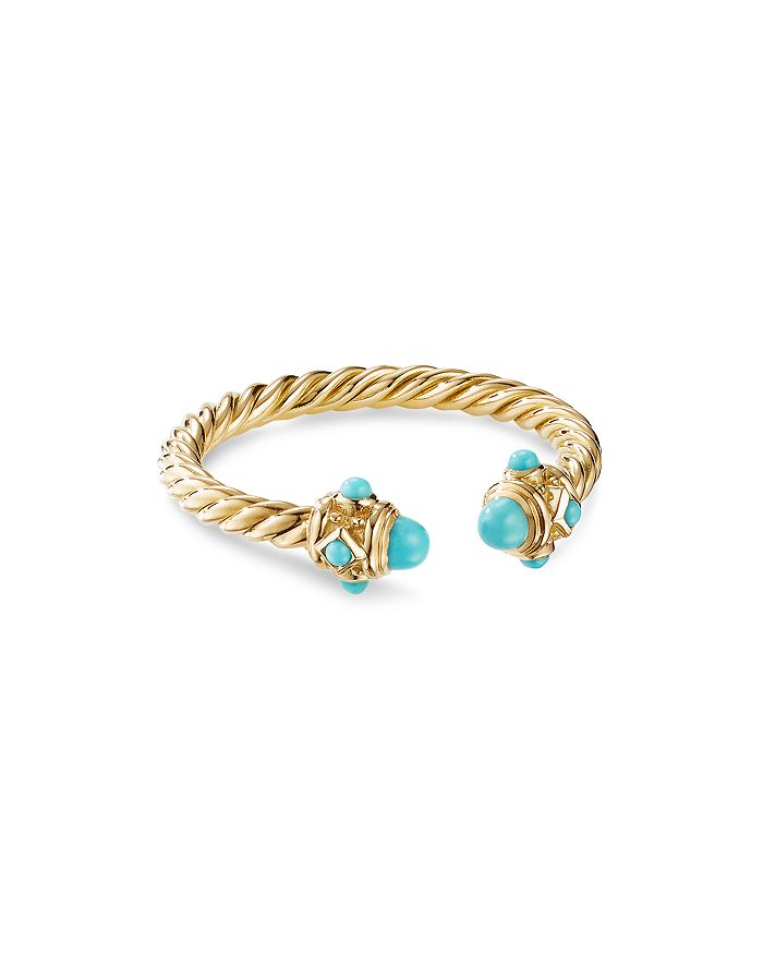 David Yurman - Renaissance Ring in 18K Yellow Gold with Turquoise