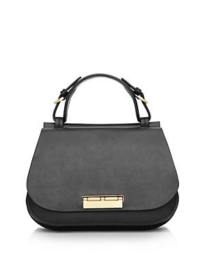 Zac Zac Posen Chantalle Leather Mini Saddle Satchel-Handbags