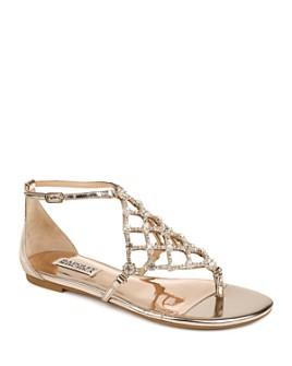 Badgley Mischka - Women's Zoanne Crystal Cage Thong Sandals