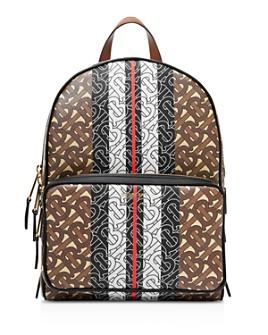 Burberry - Monogram Stripe Print E-Canvas Backpack