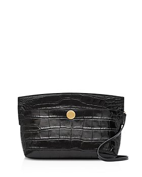 Burberry - Embossed Leather Society Clutch