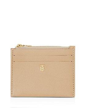 Burberry - Monogram Motif Grainy Leather Zip Card Case