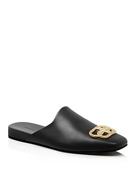 Balenciaga - Women's Flat Cosy BB Mule Slide Sandals