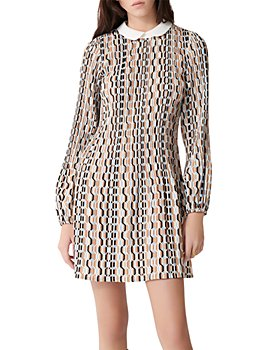 Maje - Rockilana Geometric Print Dress