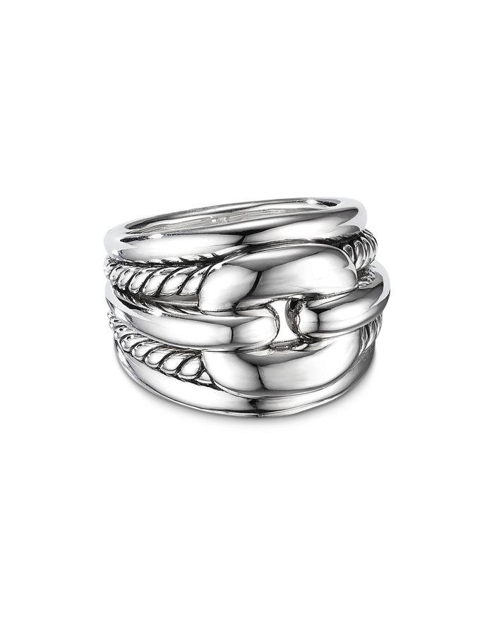 David Yurman Thoroughbred® Cushion Link Ring    Bloomingdale's