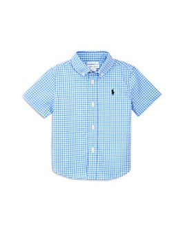 Ralph Lauren - Boys' Gingham Print Stretch Poplin Shirt - Baby