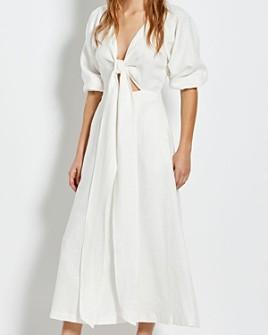 Nicholas - Asilah Tie Front Linen Dress