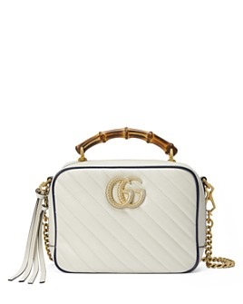 Gucci - GG Marmont Small Matelassé Shoulder Bag with Bamboo Handle