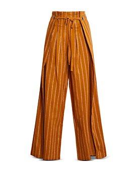 BCBGMAXAZRIA - Tie Waist Overlay Pants