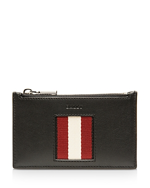 Bally Babe Stripe Leather Card Case-Men