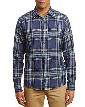Michael Kors - Linen Blend Plaid Shirt