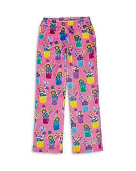 Candy Pink - Girls' Milkshake Fleece Pajama Pants - Big Kid