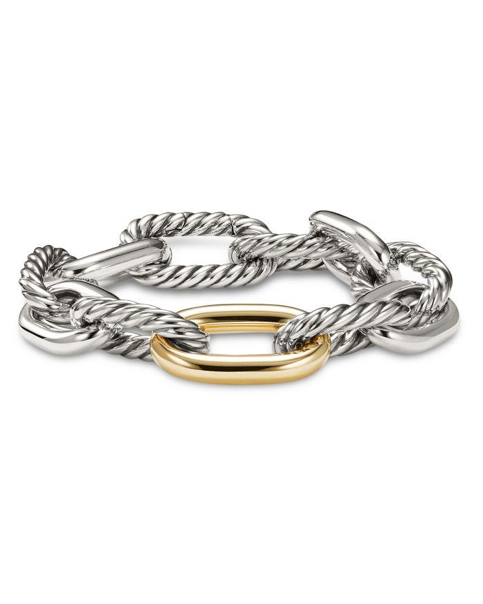 David Yurman Madison Large Bracelet with 18K Gold    Bloomingdale's