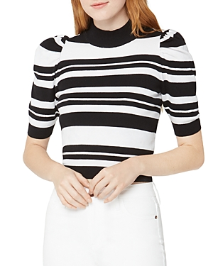 Bcbgeneration BCBGENERATION STRIPED CROPPED SWEATER