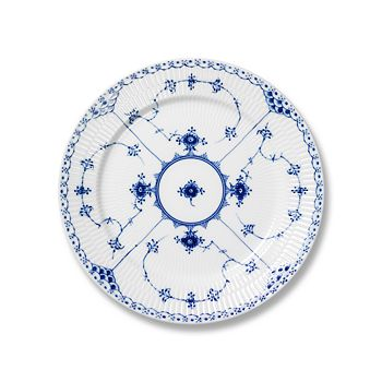 "Royal Copenhagen - ""Blue Fluted Half Lace"" Lunch/Dessert Plate"