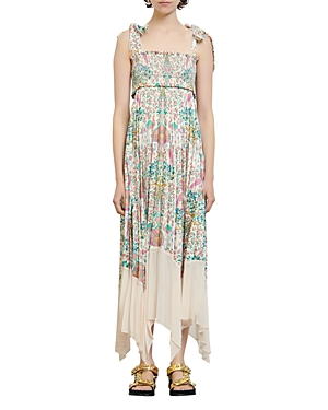 Sandro Irena Printed Tie Strap Dress