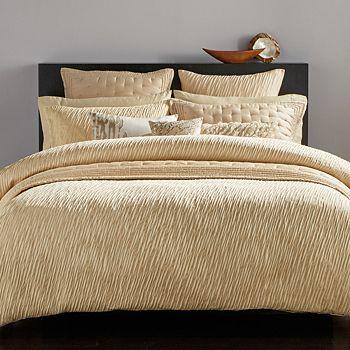 "Donna Karan - Gold Dust Collection Decorative Pillow, 22""x 11"""