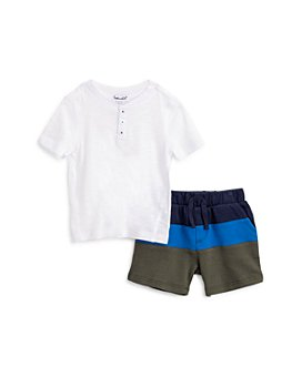 Splendid - Boys' Henley Tee & Color Blocked Shorts Set - Baby