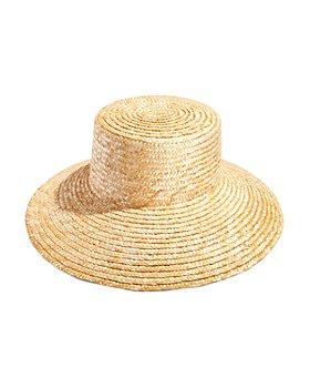 AQUA - Bloom Straw Boater Hat