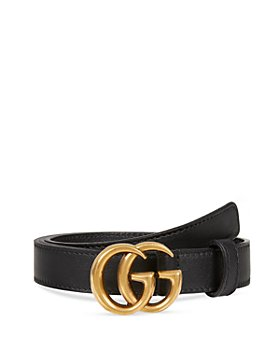 Gucci - Women's Leather Belt with Double G Buckle