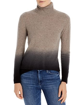 C by Bloomingdale's - Dip Dyed Cashmere Turtleneck Sweater - 100% Exclusive
