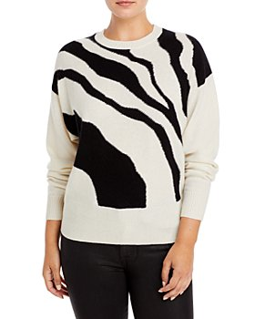 C by Bloomingdale's - Abstract Print Cashmere Sweater - 100% Exclusive