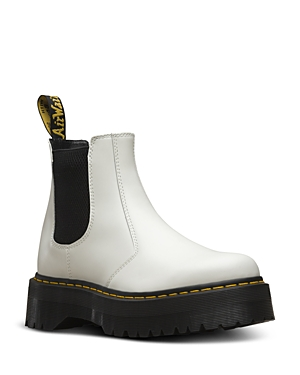 Dr. Martens Women\\\'s 2976 Quad White Pull On Boots