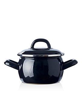BK Cookware - Mini Enameled Dutch Oven, Black