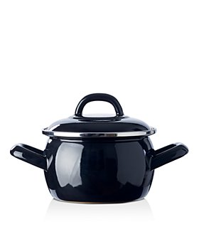 BK Cookware - Mini Enameled Dutch Oven, Black