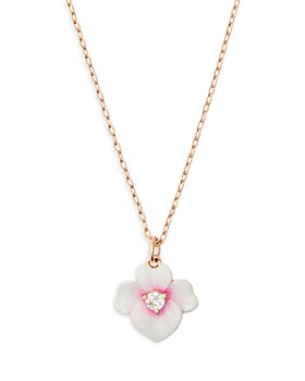 kate spade new york - Precious Pansy Enamel Mini Pendant Necklace