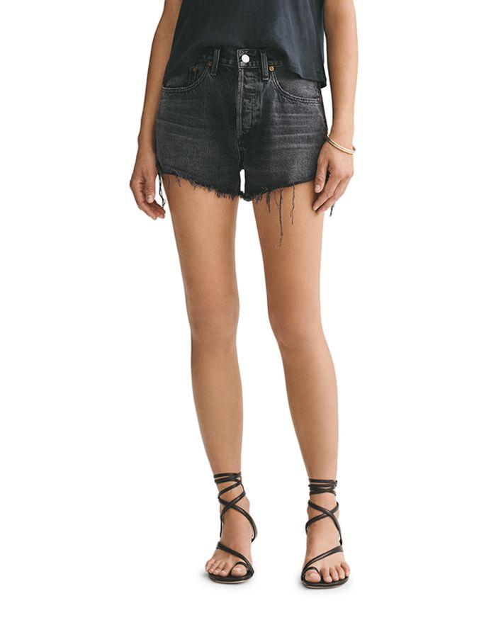 Agolde Parker Cutoff Denim Shorts In Crash