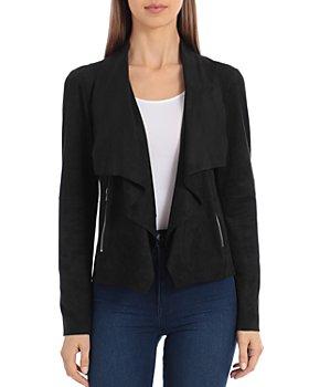 Bagatelle - Faux Suede Drape Jacket
