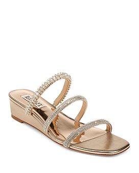 Badgley Mischka - Women's Zofia Slip On Embellished Sandals