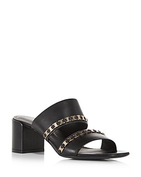 Salvatore Ferragamo - Women's Trabia Embellished Block Heel Slide Sandals
