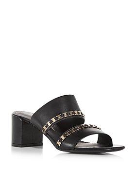 Salvatore Ferragamo - Women's Trabia Embellished Block Heel Slide Sandals