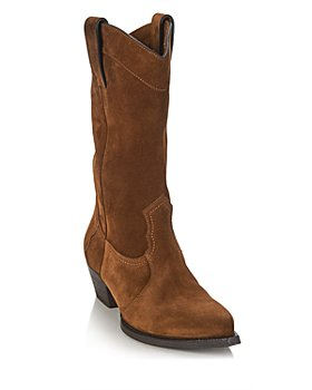 Saint Laurent - Women's Lucas Low Heel Western Boots