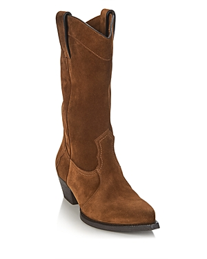 Saint Laurent Women's Lucas Low Heel Western Boots
