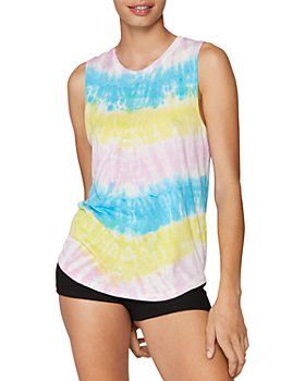 Spiritual Gangster - Tie Dyed Muscle Tank Top