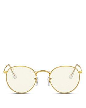 Ray-Ban - Unisex Polarized Evolve Round Blue Light Glasses