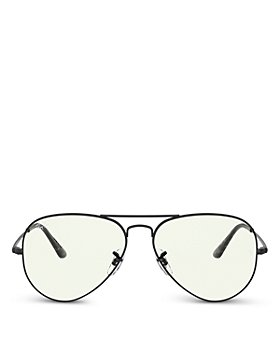 Ray-Ban - Unisex Brow Bar Aviator Blue Light Glasses, 57mm