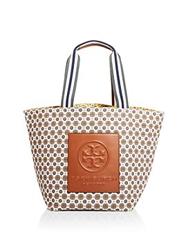 Tory Burch - Gracie Mixed Print Canvas Tote