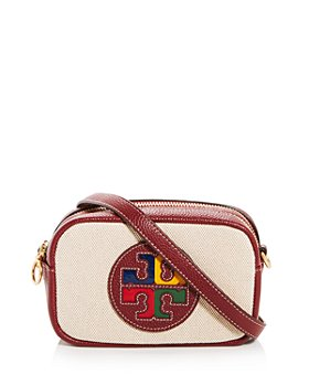 Tory Burch - Perry Color Block Canvas & Leather Mini Crossbody