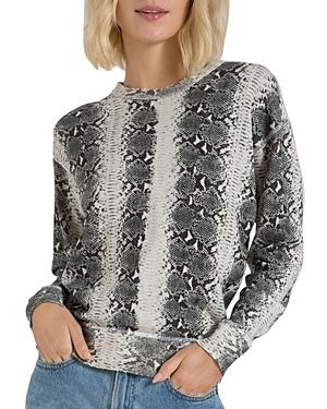 n:philanthropy Lauren Snakeskin Print Sweatshirt