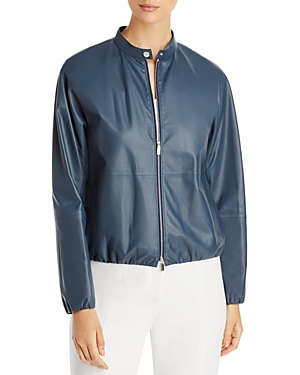 Lafayette 148 New York Rutherford Leather Jacket-Women