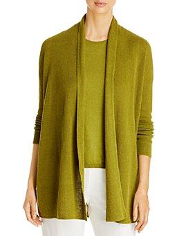 Eileen Fisher - Open Front Organic Linen & Cotton Cardigan