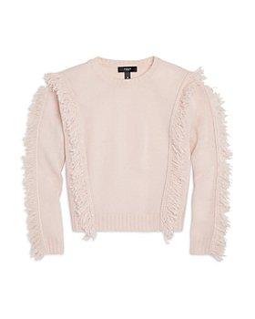 AQUA - Girls' Cashmere Cropped Fringe Sweater, Big Kid - 100% Exclusive